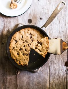 Chocolate Chip Almond Flour Skillet Cookie (Gluten-Free) | A Couple Cooks