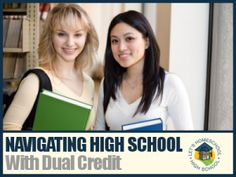Earn college credits while in high school with dual enrollment!