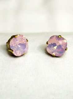 Catherine Popesco vintage french gold stud earrings, Antique, 14K, gold plated or