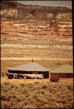 The Hogan Is the Traditional Dwelling of the Navajo Indians, via Flickr.