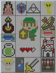 All the graphs to make this Zelda afghan