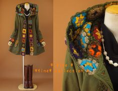 #crochet - coat upgrade DIY !!!!!!!!!!!! Love the heck out of this!!!!!!!!!!