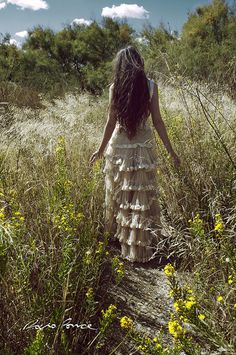 Long Hair, Ruffled Skirt