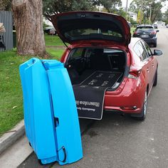 10ft Long Fishing and Touring kayak, folds to fit in your car, not on top of it. Easier to store and transport. With its own built-in wheels it can be pulled along like a piece of luggage.