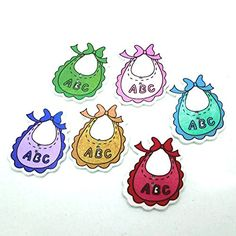 Funnytoday365 Kawaii 50Pcs Fashion 2 Holes Mixed Random Scrapbooking Cute Baby Abc Bib Wood Buttons Fit Sewing And Scrapbook Diy Decor *** Learn more by visiting the image link.