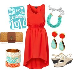 summer night out, created by kikimich1 on Polyvore