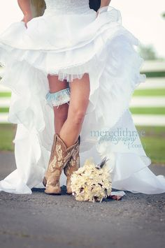 Country Bridesmaid Dresses With Boots | ... wedding dress wedding country wedding country cowgirl boots...me!!