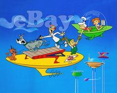 Rare! THE JETSONS Cartoon Color TV Photo #2 HANNA BARBERA Studios ASTRO DOG WALK  | eBay