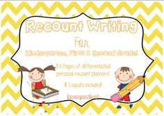 21 PAGES OF DIFFERENTIATED RECOUNT PLANNING SHEETS to teach your students all about writing interesting, detailed and well structured recounts. 8 Different layouts are included with multiple versions of each featuring differentiated handwriting lines.