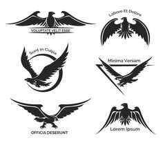 Set of eagle logo by Microvector on Creative Market