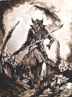 //Bloodborne//                          -Wolfpack- China and watercolor