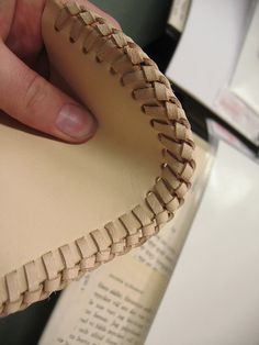 leatherworking - seams close up by learningtofly_katafalk, via Flickr