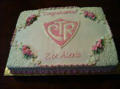 CTR baptism cake