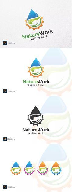 Nature Work - Logo Template AI, EPS