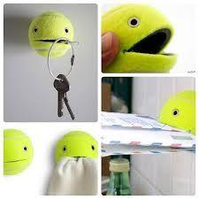 Manualidades - pelota de tenis. Divertida forma de mantener tus cosas ordendas!