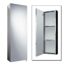 The Stainless Steel Tall Mirrored Cabinet, priced at £120.95. A stainless steel tall mirrored cabinet that will work well in any bathroom. The tall mirrored door will enhance the feeling of light and space throughout the bathroom. Order now at - http://www.taps.co.uk/stainless-steel-tall-mirrored-cabinet.html