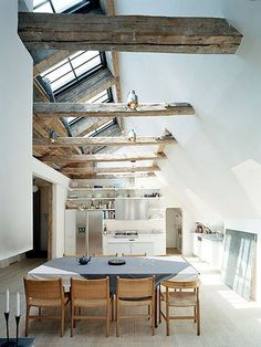 Brick, Stone, Wood and Concrete: 15 Beautiful, Rustic Kitchens    Who says a kitchen has to be cold and clinical? With elements of rough wood, st