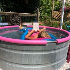 To make stock tank pools safer and more comfortable for kids and families, folks are using pool noodles to line their pools' edges. Here's how you can copy the easy and quick safety idea.
