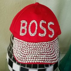 Caps · Boss lady hat Red boss lady hat 100% cotton Other Lady In Red af1257289655