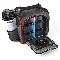 Jaxx Fuel Pack with Portion Control - Black/Red