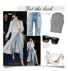 """""""Get the look: Kylie Jenner"""" by melaniepp ❤ liked on Polyvore featuring Levi's and Gianvito Rossi"""