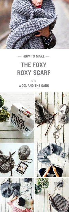 How to knit a scarf with Wool and the Gang.