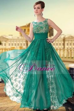 2013 Prom Dresses With Beading/Sequins A Line Scoop Floor Length Chiffon 30650#
