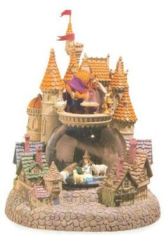 Beauty and the Beast - Village Snow Globe