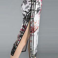 Size(cm) Bust Waist Hip Slit Length Sleeve   S 84 68 90 44 120 -   M 88 72 94 44 120 -   L 92 76 98 44 120 -   XL 96 80 102 44 120 -   2XL 100 8...