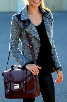 Editor's Moto Jacket<3 and that bag!