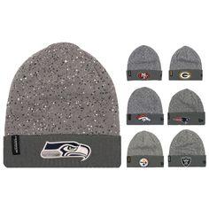 New Era NFL Grey Splattered Sport Knit Hat Beanie Pick Your Team 1b250279f