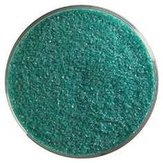 Teal Green Opalescent Fine Frit - 4oz - 90COE - Made From Bullseye Glass