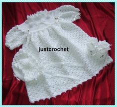 Christening Outfit Baby Crochet Pattern DOWNLOAD by justcrochet1