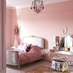 Pink French girls room