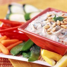 Here is a different quick fix recipe for spinach dip. Diabetic exchanges and nutrition facts per serving are on the recipe.