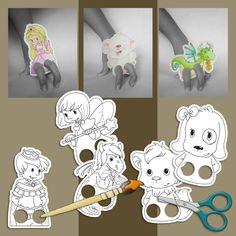 marionnettes à colorier - pour Avenue Mandarine ©