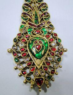Antique 20K Royal Diamond Ruby Emerald Gold by TRIBALEXPORT, $4750.00