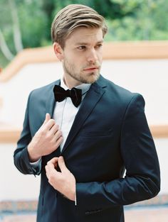 He cleans up nice: Photography: Jon Cu - joncu.com   Read More on SMP: http://www.stylemepretty.com/2016/07/20//