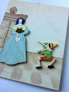 Pinocchio tale relief painting - Quadro a rilievo della fiaba di Pinocchio, Pinocchio e la Fata dai capelli turchini di Quieora su Etsy