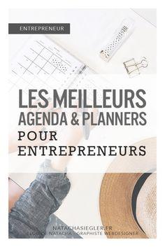Les meilleurs agenda & planners pour entrepreneurs ! - Natacha Siegler - Designer Graphiste Webdesigner - La Rochelle Business, Bujo, Day Planners, Daily Organization, Articles Of Association, Life Goals, Entrepreneurship, Store