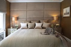 The Paper Mulberry: || BEDROOM | Master suite  Kelly Hoppen 800 thread count bedlinen in Putty