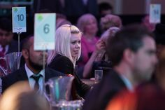 @Hannah Stacey from @SmallBusinessHeroes.co.uk listening intently to Roger Black's speech no doubt. #business #smallbusiness #ukbusiness #businessawards
