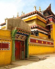 Lower Wutun Monastery . Tibet                                                                                                                                                                                 More