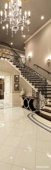Beautiful tiles and staircase!