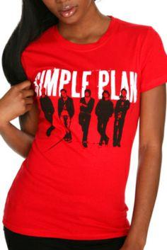 Simple Plan Group Shot Girls T-Shirt 2XL