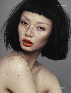 Alice Ma - This girl's freckles are amazing!! Also I'm a massive fan of the orange lipstick <3