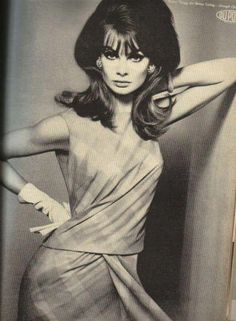 """Jean  Shrimpton was my favorite fashion model.  They called her """"the shrimp """".  She was beautiful."""