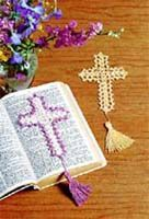 craftideas.com: Crafts 'n Things: Ask the Experts: Crocheted Cross Bookmark