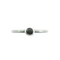 Made from recycled sterling silver and black nurdles*. These rings are  lightly textured with a black patina on the band. Around the setting the  finish is bright silver. Please specify ring size at checkout.  These rings were made as a response to the outcome of the election here in  the USA:  Jewelry is my voice, my way of taking action. Yesterday was a really  shitty day for lots of humans who cherish and fight for this planet and its  inhabitants. I cried a lot. I anguished over…