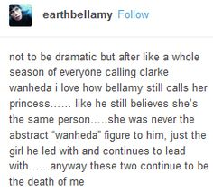 Bellamy, Clarke, Bellarke, the 100, tumblr